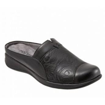 ソフトウォーク SoftWalk レディース サンダル・ミュール シューズ・靴 San Marcos Embossed Leather Wedge Mules Black