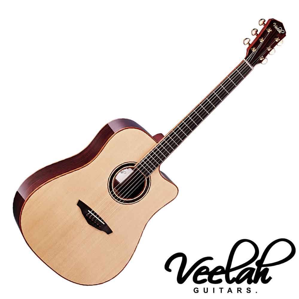 Veelah V6 DC 民謠吉他40吋 面背單 雲杉面板 玫瑰木背板 - 【黃石樂器】