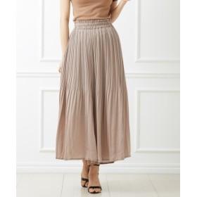 ビンテージサテンで大人っぽく♪スカート見えガウチョパンツ (レディースパンツ),pants