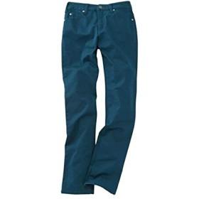 [nissen(ニッセン)] すごのび ストレッチ ツイル ストレート パンツ もっともっとゆったり太もも 股下73cm 大きいサイズ レディース ブルーグリーン ウエスト 73cm