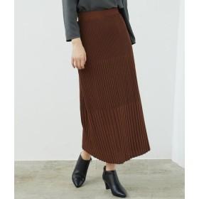 ロペピクニック/【セットアップ対応】ストライプニットスカート/ブラウン/38