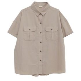 [マルイ] コットン100ビックシルエット半袖ワークシャツ/ハッピーマリリン(大きいサイズ)(AHAPPYMARILYN)