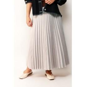 【ヴァンスシェアスタイル/VENCE share style】 フェイクスエードプリーツスカート