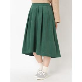【大きいサイズレディース】【LL~5L展開】フィッシュテールコーデュロイスカート スカート フレアスカート