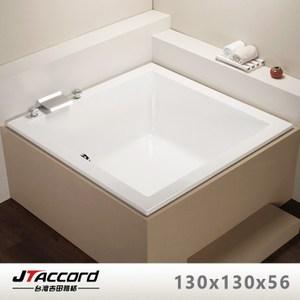 【台灣吉田】T404-130 方形壓克力浴缸(空缸)130x130x55cm