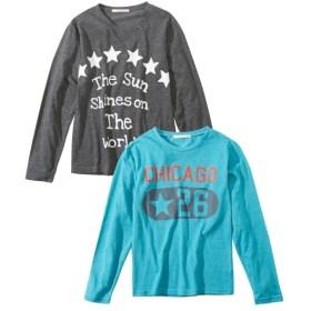 長袖Tシャツ2枚組(男の子 子供服。ジュニア服) Tシャツ・カットソー
