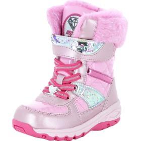 [ムーンスター] スノーブーツ ウィンターブーツ 冬靴 子ども【sgwpc57sp】 16cm ピンク