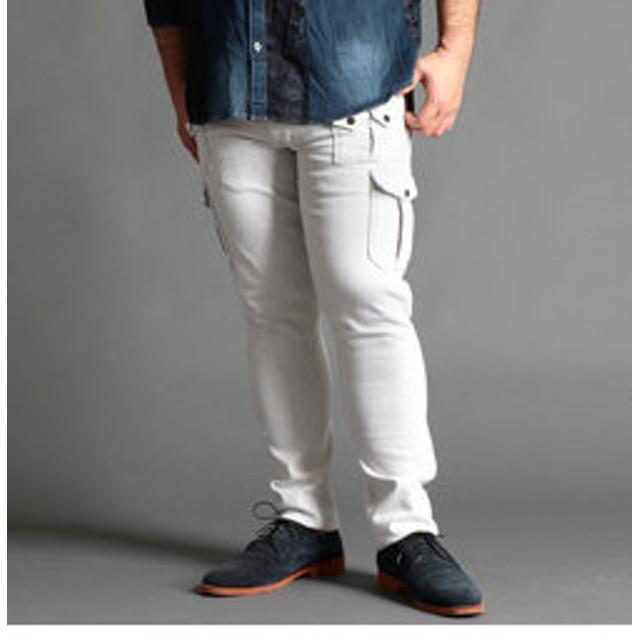 【NICOLE:パンツ】<大きいサイズ>スリムカーゴパンツ