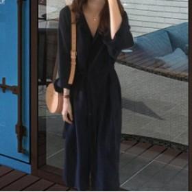 ロングTシャツレディースシャツワンピ膝丈長袖ゆったりワンピーストップスオシャレ2018秋冬新作
