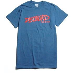 ディスコード DISCHORD RECHORDS Tシャツ レコードレーベル Old Logoブルー/レッド -M