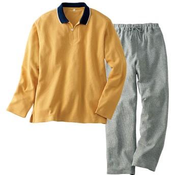 50%OFF【レディース】 衿つきパジャマ(男女兼用) ■カラー:マスタード系 ■サイズ:S,3L
