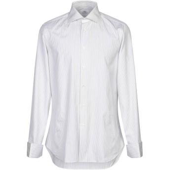 《セール開催中》CASTANGIA メンズ シャツ ホワイト 41 コットン 100%