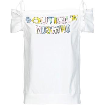 《9/20まで! 限定セール開催中》BOUTIQUE MOSCHINO レディース T シャツ ホワイト 44 コットン 100%