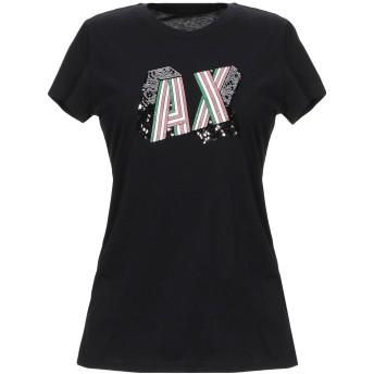 《9/20まで! 限定セール開催中》ARMANI EXCHANGE レディース T シャツ ブラック XS コットン 100%