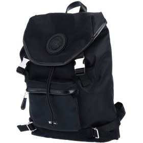 《セール開催中》VERSUS VERSACE メンズ バックパック&ヒップバッグ ブラック ナイロン 100% / ポリエステル