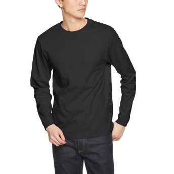 (ライフマックス)LIFEMAX(ライフマックス) 6.2oz ヘビーウェイトロングスリーブTシャツ(ユニセックス・リブ付ロンT) MS1607 16 ブラック XL
