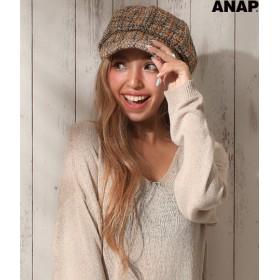【セール開催中】ANAP(アナップ)ツイードキャスケット