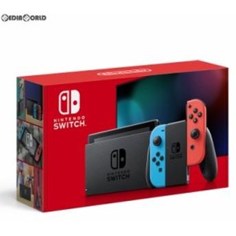 【新品即納】[本体][Switch]Nintendo Switch(ニンテンドースイッチ) Joy-Con(L) ネオンブルー/(R) ネオンレッド(HAD-S-KABAA)(20190830)