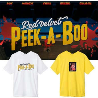 大人気!red velvet Perfect Velvetアルバムpeek-a-boo週辺半袖Tシャツ 韓国ファッション tシャツ 男女兼用 トップス 韓国