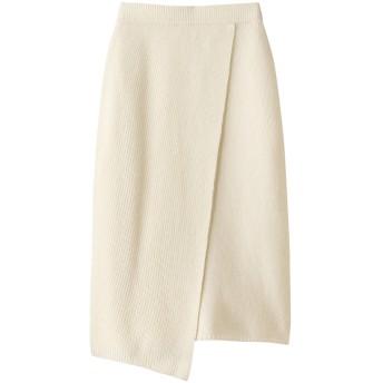 Whim Gazette ウィム ガゼット 【GEMINI】ラップ風スカート ホワイト