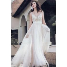 花嫁ドレス カジュアル ウエディングドレス ロングドレス プリンセスライン 白サイズ豊富 XS-XXXL著心地最高 結婚式 二次