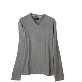 (メンズナーレ) MensNare カットソー 長袖Tシャツ ランダムリブT メンズ Vネック D300220-08 杢グレー L