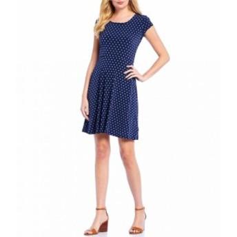 マイケル コース MICHAEL Michael Kors レディース ワンピース ワンピース・ドレス Mod Dot Print Matte Jersey Cap Sleeve A-Line Dress