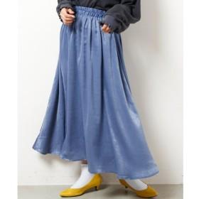 【レイカズン/RAY CASSIN】 サテンギャザースカート