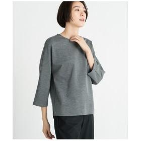 自由区 【洗える】TENCEL REVER カットソー Tシャツ・カットソー,グレー系