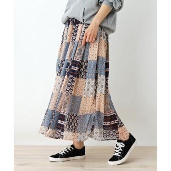 SHOO・LA・RUE/Cutie Blonde(シューラルー) オリエンタルパッチワーク柄スカート