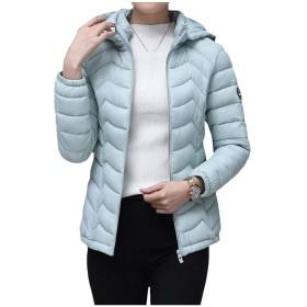 Candiyer 女性ショートスタイルカレッジスタイルフードアウトコート超軽量ダウンコート AS1 XL