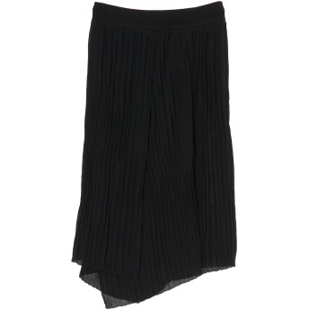 Vince リンクルプリーツスカート ミモレ丈・ひざ下丈スカート,ブラック