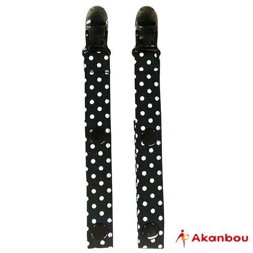 Akanbou 多用途扣帶夾 (小點黑)