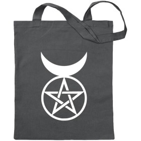 角質の神 - 角の神 KIWISTAR - Horned god - horned god 12色展開のジュートバッグ - プリンセスの言葉をモチーフにしたコットンのバッグ