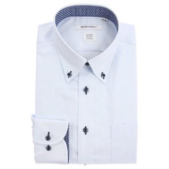 【THE SUIT COMPANY:トップス】【SUPER EASY CARE】ボタンダウンカラードレスシャツ ヘリンボーン 〔EC・FIT〕