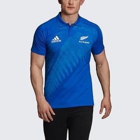 <adidas/アディダス> オールブラックス ポロシャツ(メンズ) BLUExWHITE 【三越・伊勢丹/公式】