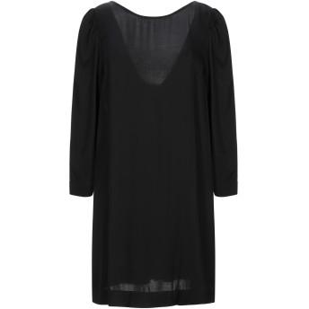 《セール開催中》SEMICOUTURE レディース ミニワンピース&ドレス ブラック 38 レーヨン 100%