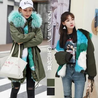 信じられない驚きの大特価 韓国ファッション CHIC気質 大人気 おしゃれな トレンド 新品 フォックス 中・長セクション ダウンコート 綿入れの服
