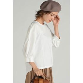 LIPSTAR タックシャーリングスリーブカットソー Tシャツ・カットソー,オフホワイト