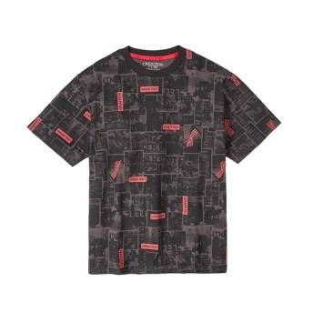 総柄プリント半袖Tシャツ 大きいサイズメンズ Tシャツ・カットソー