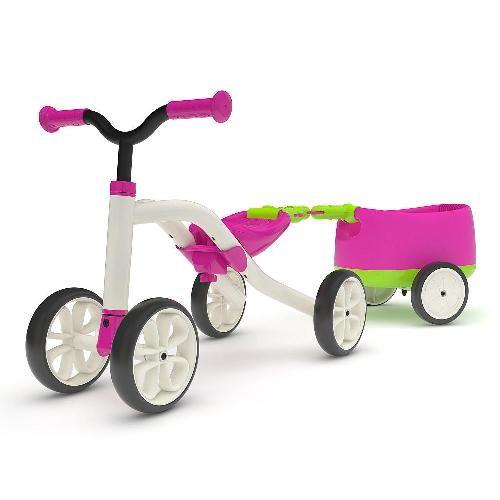 比利時 Chillafish比利時 Quadie跨騎四輪滑步小拖車-亮桃紅[免運費]