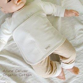 藍天畫布-100%有機棉 (柔適系列)嬰兒肚圍 S,原米色70x18cm,新生兒即可使用【紫貝殼*藍天系列滿499 獨家贈隨機PUKU企鵝短袖連身衣】