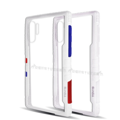 TGVi S 極勁2代 三星 Galaxy Note10+ 個性撞色防摔手機殼(雪山白)
