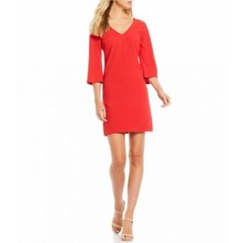 トリーナ ターク Trina Turk レディース ワンピース ワンピース・ドレス Malbec V-Neck Crepe Shift Dress Roja
