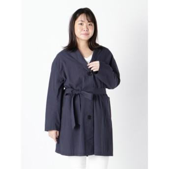 【大きいサイズレディース】【3-5L】長く愛用できそうな定番デザインの一重コート アウター チェスターコート