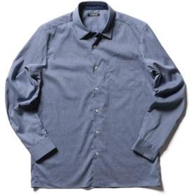 (シュテットシュタイン) Stutostein 麻混ストレッチシャツ 9-0080-2-71-001 S ブルー