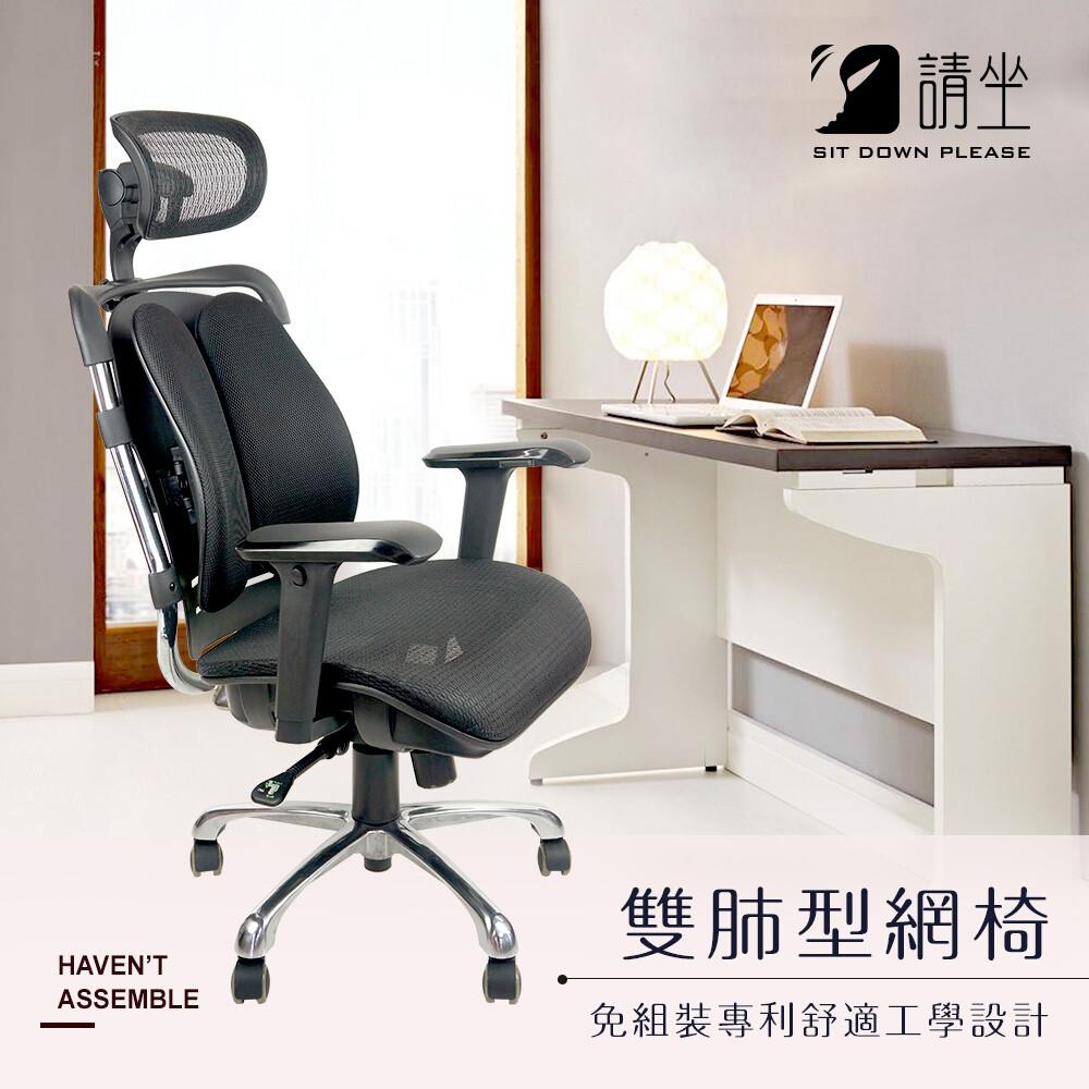 請坐雙肺背靠 專利設計 多功能網椅 免組裝