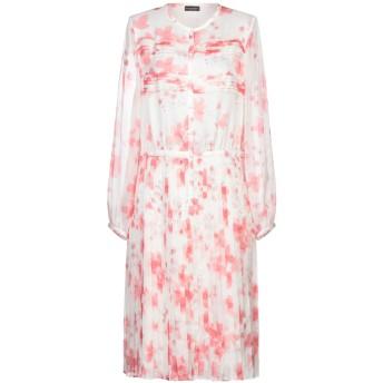 《セール開催中》EMPORIO ARMANI レディース 7分丈ワンピース・ドレス ホワイト 38 シルク 100%