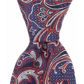 ダニエル クレミュ Cremieux メンズ ネクタイ Papin Paisley Traditional 3 1/4 Silk Tie Red