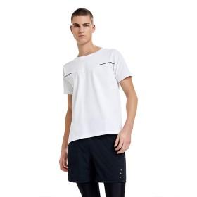 FOOXMET Tシャツインスタント冷却速乾性 クルーネック 半袖 スポーツ Tシャツ 通気性水分発散性軽量シャツ